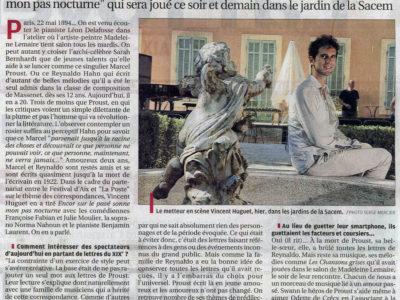La Provence : Quand Proust et Reynaldo Hahn s'écrivaient